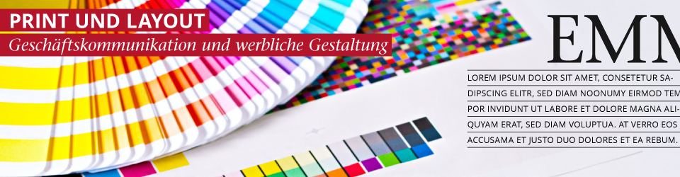 Printdesign und Layout